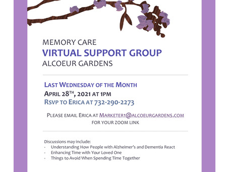 Virtual Support Group - April Meeting