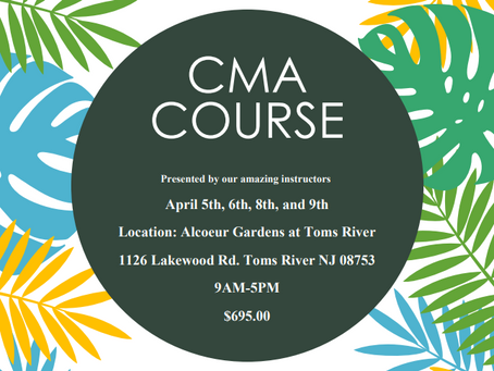 New Dates For CMA Course