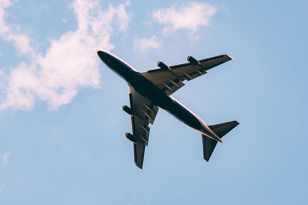 天空の飛行機