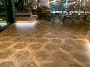 parqued wood flooring