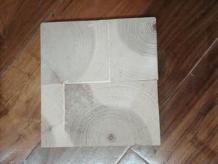 Unfinished Ponderosa Pine End Grain