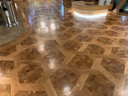 Custom wood flooring parquet