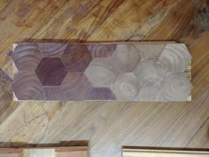 Hexagon Mesquite End Grain Block