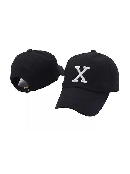 """X"" Unisex Baseball Adjustable Cap"