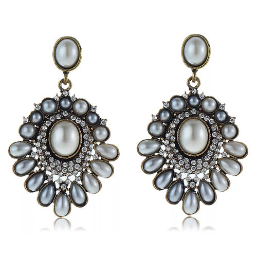 """Proper In Pearls""  Classic Glam Earrings"