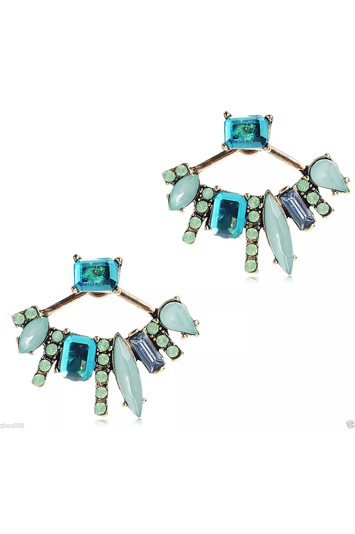 """""""Fanflair""""  Turquoise Earrings"""
