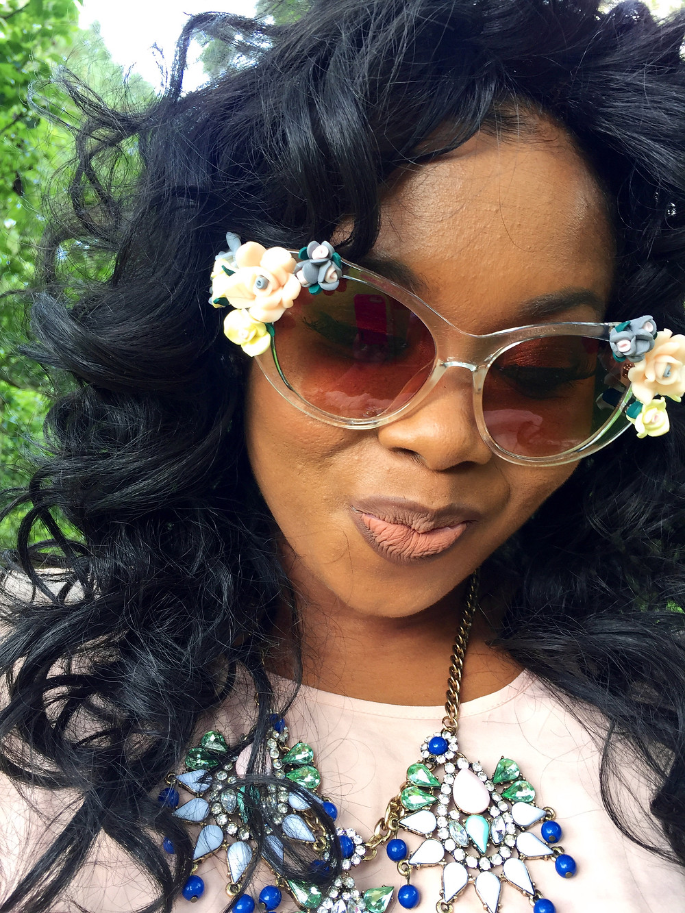 """The """"Baroque"""" Clear Sunnies Are Absolutely Stunning. www.crownedinroyalty.com"""