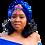 """Thumbnail: """"Royal Splendor"""" Vivid Blue Turban"""