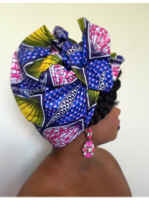 Massai African Print Head Wrap