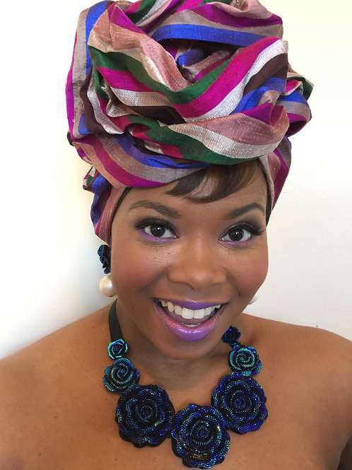 """Ample Purple"" Silk Headwrap"