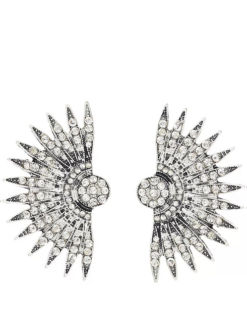 """Spiked Cluster"" Luxe Glam Earrings"