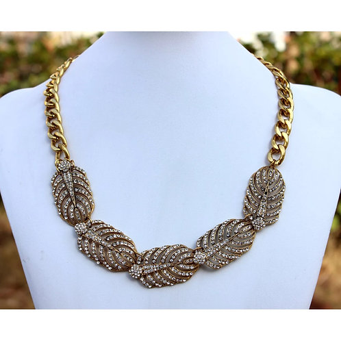 """Legend"" Gold Lux Glam Fashion Necklace"