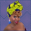 Thumbnail: Purple & Lime African Print Head Wrap