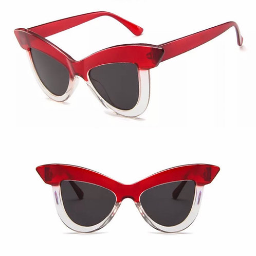 """Vogue"" Red Mirror Retro Styled Sunnies"