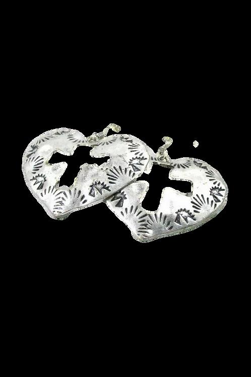"""""""Love of the Cross"""" Silver Cross Earrings"""
