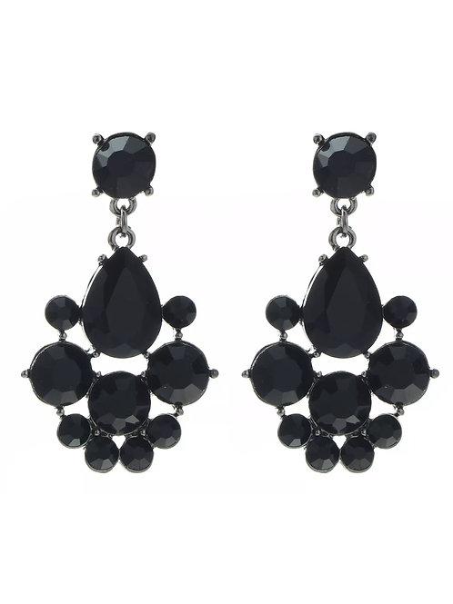 """Vision of Love"" Black Glam Earrings"