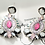 "Thumbnail: ""Prissy in Pink"" Elegant Two Inch Dangles"