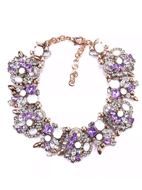 """""""Victorious"""" Grape Luxe Glam Necklace"""