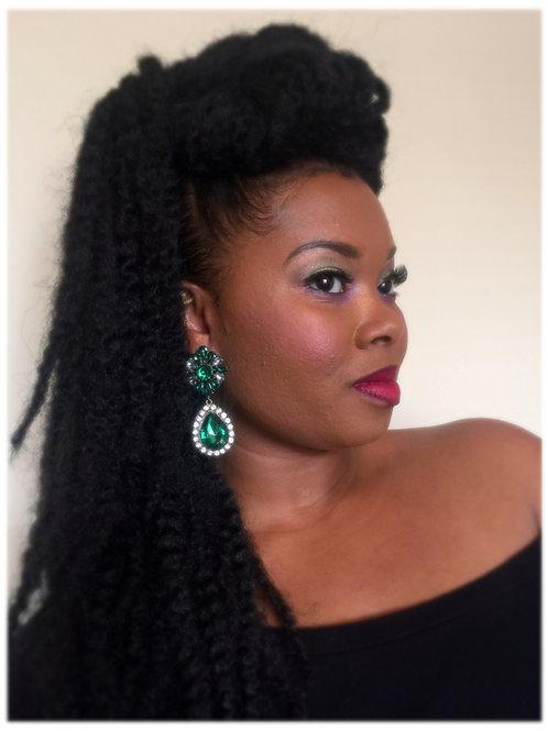 """""""Emerald"""" Chandelier Earrings"""
