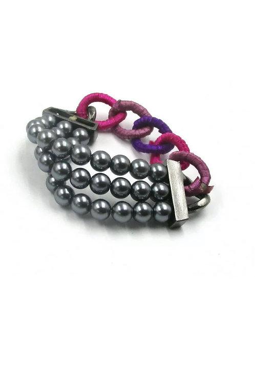 """Ropes & Pearls"" Stretch Bracelet"