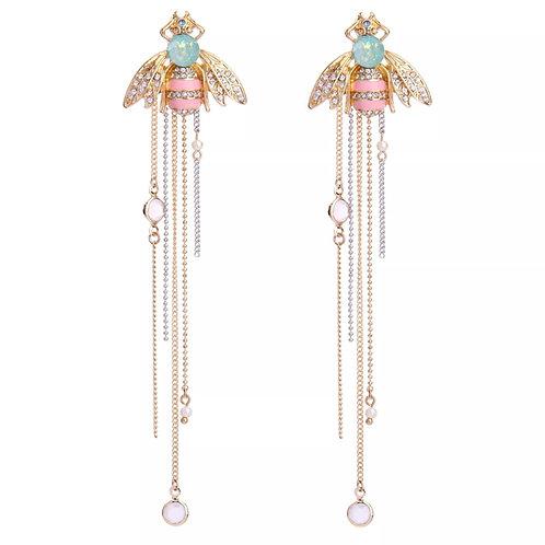 """""""Bee-u-tiful"""" Luxe Dangle Glam Earrings"""
