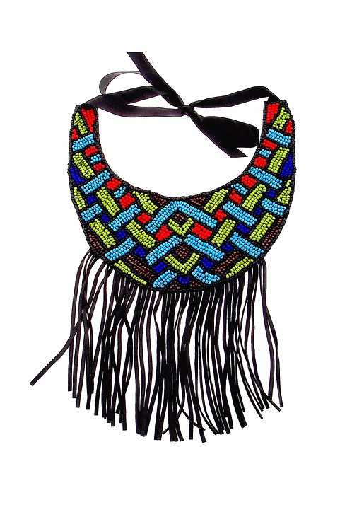 """Triangles & Tribal"" Statement Necklace"