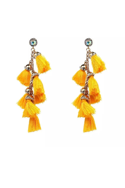 """Celebration"" Golden Fringe Earrings"