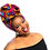 "Thumbnail: ""Splash"" African Print Head WrapVibrant Magenta, Turquoise, & Gold"