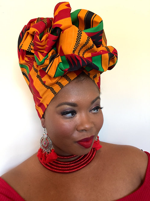 """For My People"" African Wax Print Headwrap"