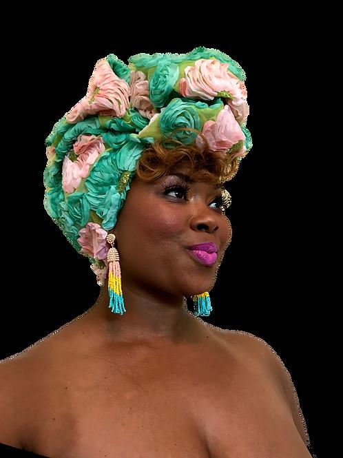 """Gardenia"" Exclusive Head Wrap"