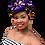 Thumbnail: Purple & Gold Stretch Sequin Head Wrap
