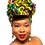"Thumbnail: ""Full Bloom"" African Print Head Wrap Red, Brown, Green, & Gold"
