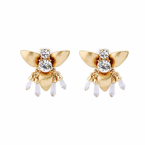 """Bee Clustered"" Dainty Earrings"