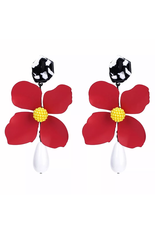 """Perfect Petal"" Oversized Dangle Earrings"
