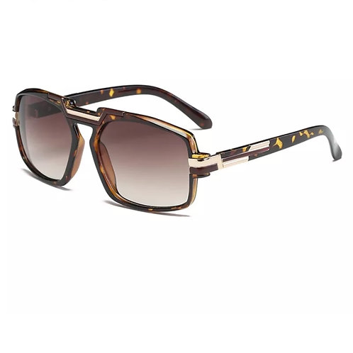 """Retro"" Tortoise Gold & Brown Vintage Frame Sunglasses"