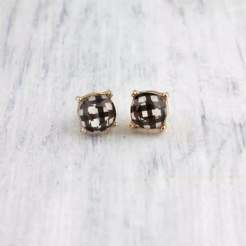 """Plaid"" Modern Stud"