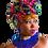 "Thumbnail: ""Kali"" Royal Blue & White Beaded Necklace"
