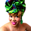 """Thumbnail: """"African Print Headwrap in Pink & Green Pastures"""