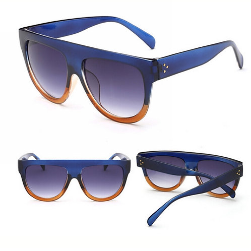 """Retro Ready "" Deep Blue & Brown Frames"