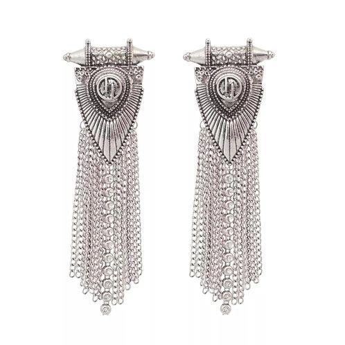 """""""Stellar"""" Silver Plated Earrings"""