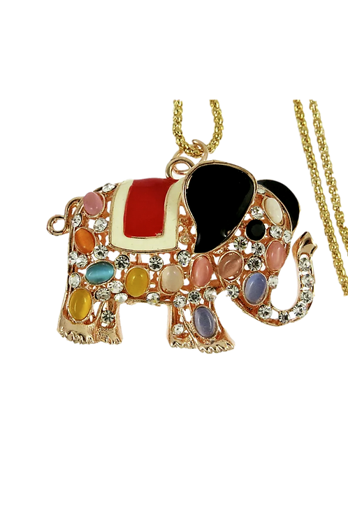 """Lucky Elephant"" Pendant Necklace"