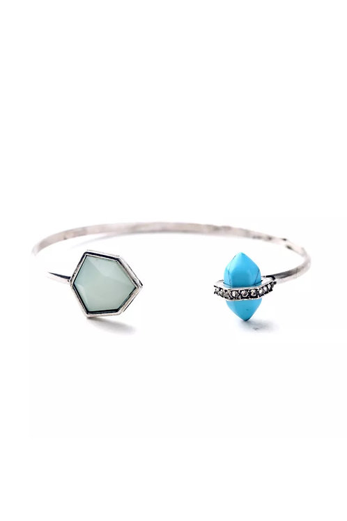 """Turquoise"" Open Cuff Bangle"