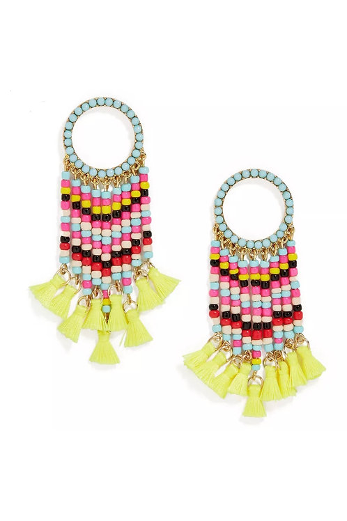 """Cherokee"" Beaded Dangle Earrings"