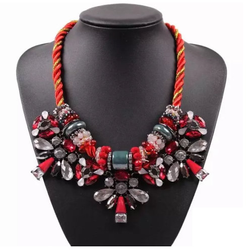 """""""Love"""" Cluster Statement Necklace"""