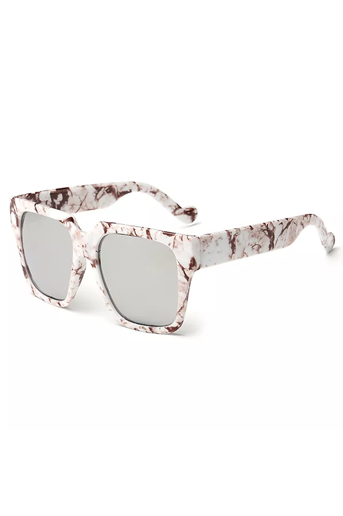 """Marble Beauty"" Sunglasses ""Cream & Brown"