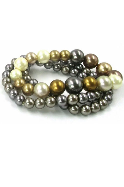"""Midas Touch"" Stretch Bead Bracelet"