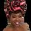 "Thumbnail: ""Pink & Blue"" Stretch Sequin Head Wrap"