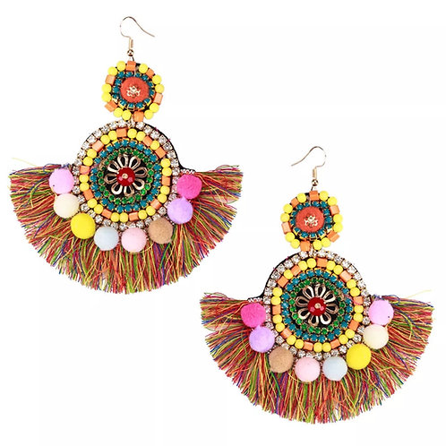 """Kaleigh"" Colorful Chandelier Earrings"
