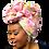 "Thumbnail: ""Pink Roses""  Head Wrap"