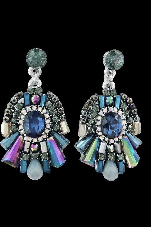 """""""Fairy Tales"""" Cluster Lux 2 Inch Earrings"""
